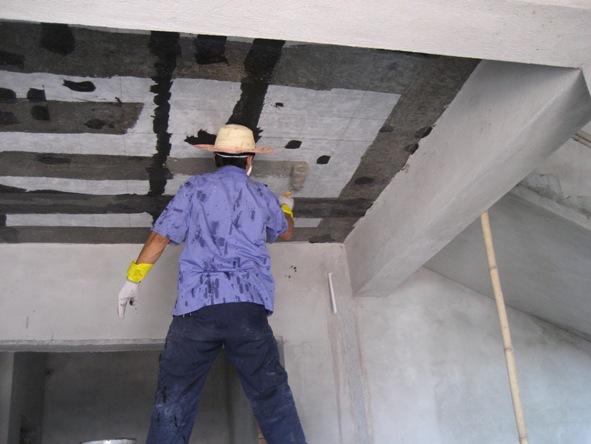 碳纤维布加固现浇开裂楼板的施工